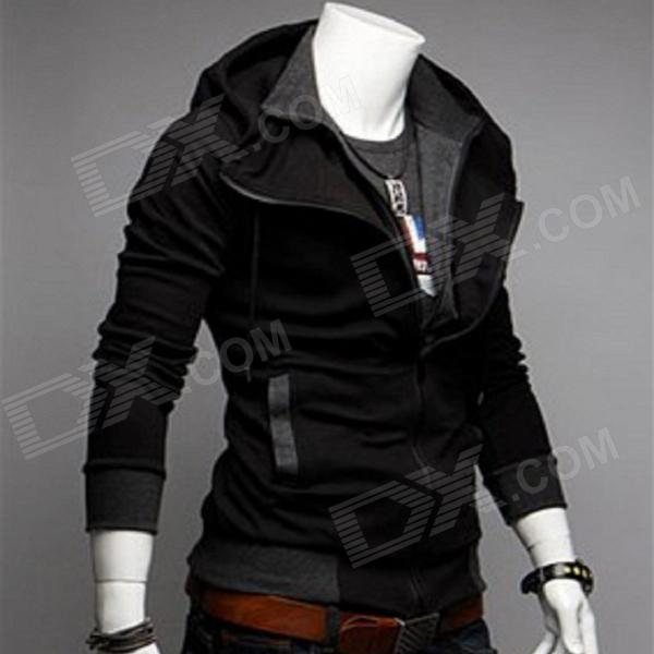 Mens Black Casual Jacket - Coat Nj