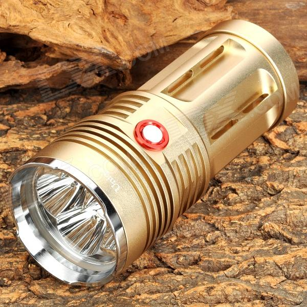 UniqueFire UF-V10-4 2600lm 3-Mode White Flashlight w/ 4 x Cree XM-L2 T6 - Light Golden (4 x 18650) uniquefire uf 2190 1 mode 900 lumen white led flashlight w strap 1 x 18650