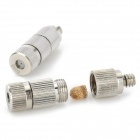 P-02 Gardening Water Pipe Stainless Steel High Pressure Spray Nozzle - Silver + White (2 PCS)