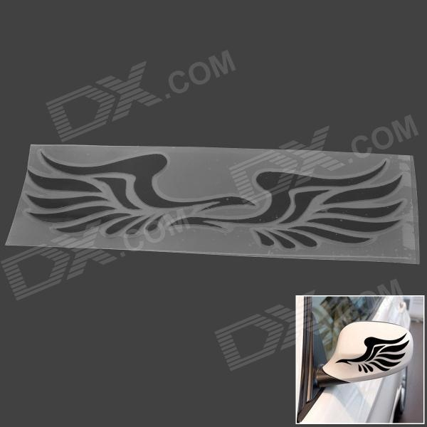Big Wings Reflective Car Rearview Mirror Decoration Sticker - Black