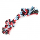 MINI Pet Cotton Braided Bone Rope Chew Knot Toy for Dog - Multicolored