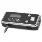 Rechargeable 0.7'' LCD Display FM Transmitter w/ 3.5mm Plug - Black + Silver