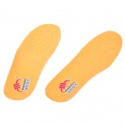 WF1210 Shock Reducing Breathable Hogskin + Latex Shoe Insole Pads - Yellow + White (Pair / Size 42)