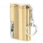 Multifunction Aluminum Alloy Windproof Butane Gas Lighter / 2-LED / Bottle Opener - Silver + Golden