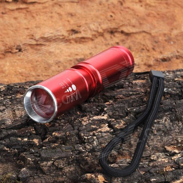 Flood-to-Throw Zooming 250lm 3-Mode White Flashlight w/ Cree XP-E R2 - Red (1 x 14500 / 1 x AA)