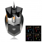 RAJFOO G4 USB 2.0 800/1200 / 1800dpi Wired Gaming Optical Mouse - Schwarz