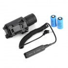 5mW Red Laser Gunsight w/ 20lm LED Flashlight for 21mm Gun Rail - Black