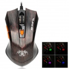RAJFOO G3 USB 2.0 800 / 1200 / 1600 / 2400dpi Wired Gaming Optical Mouse - Black + Bronze