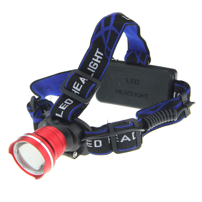 LWJ-45 600lm 3-Mode White Zooming Headlamp w/ Cree XM-L T6 - Red (1 / 2 x 18650) 600lm 3 mode white bicycle headlamp w cree xm l t6 black silver 4 x 18650