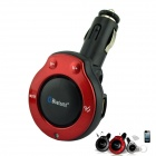 Car Cigarette Bluetooth V4.0 Handsfree Speaker w/ USB Charging Port - Red + Black
