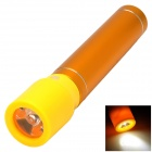 5V 1300mAh Mini Portable Li-ion Battery Power Bank w/ USB LED Flashlight Head - Yellow + Golden