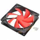 Computer Chassis CPU Cooling Fan - preto + vermelho