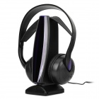 8-in-1 SF-880 Wireless Headphone w/ Receiver - Black + Purple