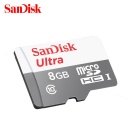 Sandisk MicroSDHC / TF UHS-I Memory Card w/ SD Card Adapter - Red + Grey (8GB / Class 10)