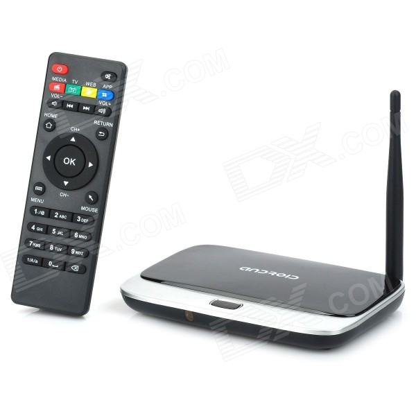 Q7V quad-core Android 4.2.2 google giocatore TV w / 2GB di RAM, 8GB di ROM, Bluetooth, IPTV (plug eu)