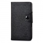 Stylish Flip-open PU Leather Case Purse w/ Holder + Card Slot for Sony LT36H - Black