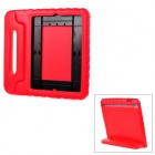 20008 Thick Shockproof EVA Back Case w/ 180 Degree Rotatable Handle / Holder for Ipad 4 - Red