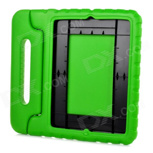 20010 Thick Shockproof EVA Back Case w/ 180 Degree Rotatable Handle / Holder for Ipad 4 - Green momax x lens 4 in 1 120 degree wide angle 15x macro lens 180 degree fisheye cpl filter for smartphone tablet silver