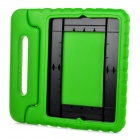 20010 Thick Shockproof EVA Back Case w/ 180 Degree Rotatable Handle / Holder for Ipad 4 - Green