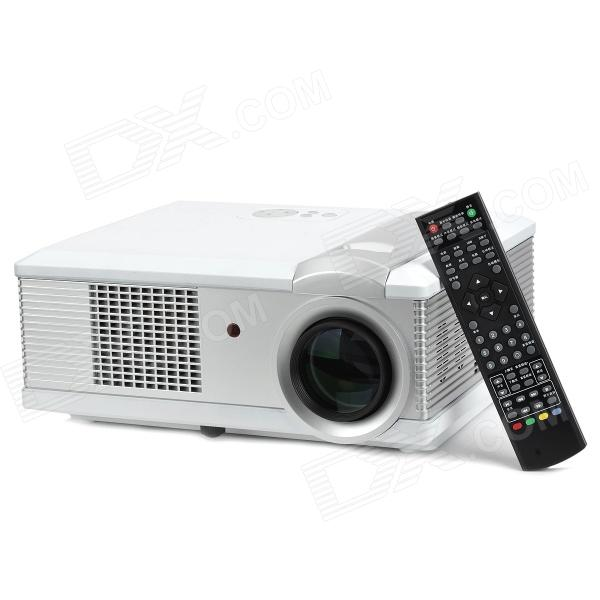 RuiQ HDQ3 160W 1080P Digital 5.83 TFT LCD Projector w/ LED / AV / VGA / HDMI - White + Silver 8 4inch 8 4 non touch industrial control lcd monitor vga interface white open frame metal shell tft type 4 3 800 600