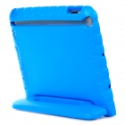 20007 Thick Shockproof EVA Back Case w/ 180 Degree Rotatable Handle / Holder for Ipad 4 - Blue