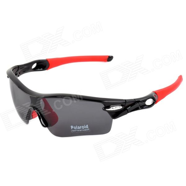 CARSHIRO 9311 UV400 Outdoor Cycling Polarized Sunglasses w/ 4 Replacement Lens - Red + Black carshiro 9384 cycling polarized uv400 protection sunglasses black red