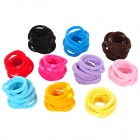 Hair Braiding Elastic Woolen Yarn + Rubber  Bands - Multicolored (100 PCS)