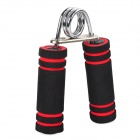 """A"" Shaped Muscle Training Stainless Steel + Foam Hand Grip - Black + Red"
