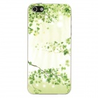 Relief Leaves Style Protective Plastic Back Case for iPhone 5 - Green