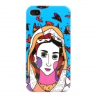 Graffiti Women Style Protective Hard Plastic Back Case for Iphone 4 / 4S - Multicolor