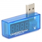 USB-AV USB Power Current Voltage Tester - Translucent Blue + Silver
