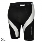 SAHOO 48802 Men's Sweat-absorbing Air-permeable Padded Short Pants for Cycling - Black + White (XL)