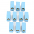 RJ45 Networking Female to Female Adapters - Sky Blue (10 PCS)