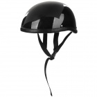 J01 Glass Fibre Motorcycle Helmet - Bright Black (Größe M)