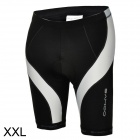 SAHOO 48802 Men's Sweat-absorbing Air-permeable Padded Short Pants for Cycling - Black + White (XXL)