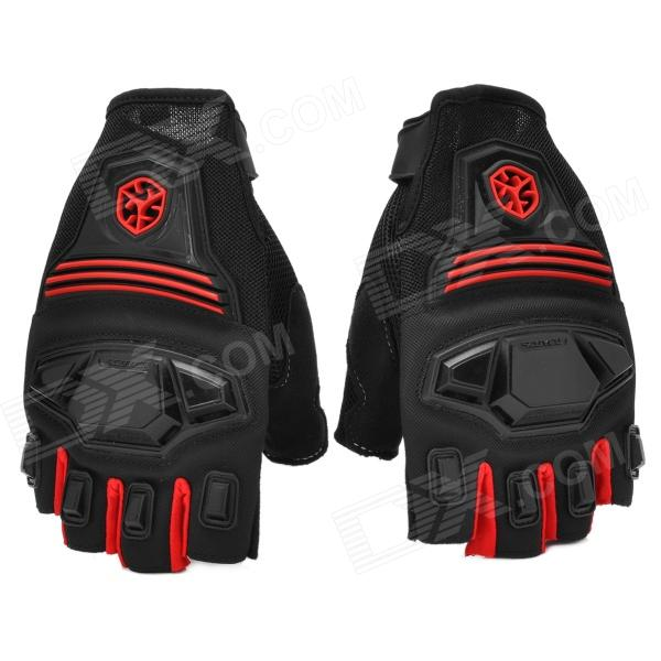 SCOYCO MC24D Half-finger Motorcycle Bicycle Gloves - Black + Red (M / Pair) - DXMotorcycle Gloves<br>Brand SCOYCO Model MC24D Quantity 2 piece(s) Type Gloves Material Micro fiber + spendix lycra + polyester Color Red + black Size M Hand Around 19~20 cm Palm Width 7.6~8.5 cm Packing List 1 x Pair of gloves<br>