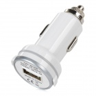 YXT-SC056 Convenient USB Output Car Charger w/ LED Indicator for Iphone / Ipad / Ipod + More - White