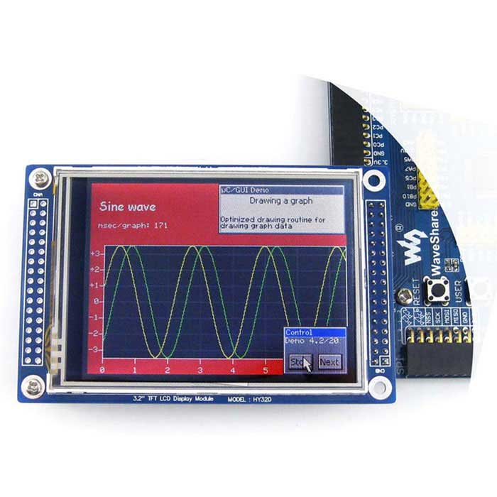 "3.2"" 320 x 240 TFT LCD Touch Screen Module - Blue"
