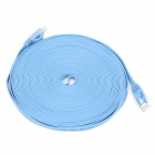 RJ45 to RJ45 Cat.6 Ultrathin Flat Network Cable - Skye Blue (10M)