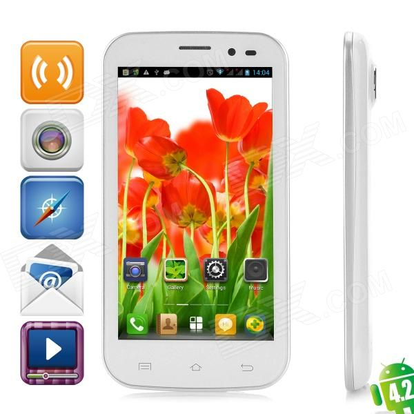 "ONN K7 Android 4.2 Quad-Core WCDMA Bar Phone w/ 4.5"" Capacitive Screen, Wi-Fi and GPS - White"