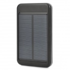 Solar Powered 5000mAh External Battery Charger Power Bank w/ 4-in-1 Charging Cable - Black