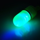 E4JK Fishing Bait Float w/ Blue Light LED Indicator Alert - Green + Black (10 PCS) (2 x LR41)