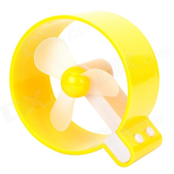 C1GL 3-Blade USB 2.0 Fan - Yellow + White (3 x AAA)