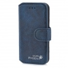 Golden Phoenix Retro Style Flip-Open Matte PU Leather Case for Iphone 5 - Blue