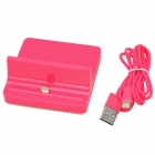 Lightning 8-Pin Charging Dock + USB Cable for iPad Mini / iPad 4 - Deep Pink