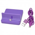 Lightning 8-Pin Charging Dock Station + USB Cable for iPad Mini / iPad 4 - Purple