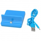 Lightning 8-Pin Charging Dock Station + USB Cable for iPad Mini / iPad 4 - Blue