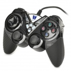 TOPWAY TP-U525 USB Wired Dual Shock Game Controller - Black