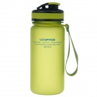 UZSPACE High-Quality Leak-Proof Frosted Colorful Bottle w/ Elastic Cover - Green (550mL)