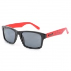 CARSHIRO 66108-C01 Retro Style UV400 Protection Resin Lens Polarized Sunglasses - Black + Red